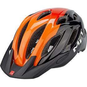 MET Crossover Casco, negro/naranja